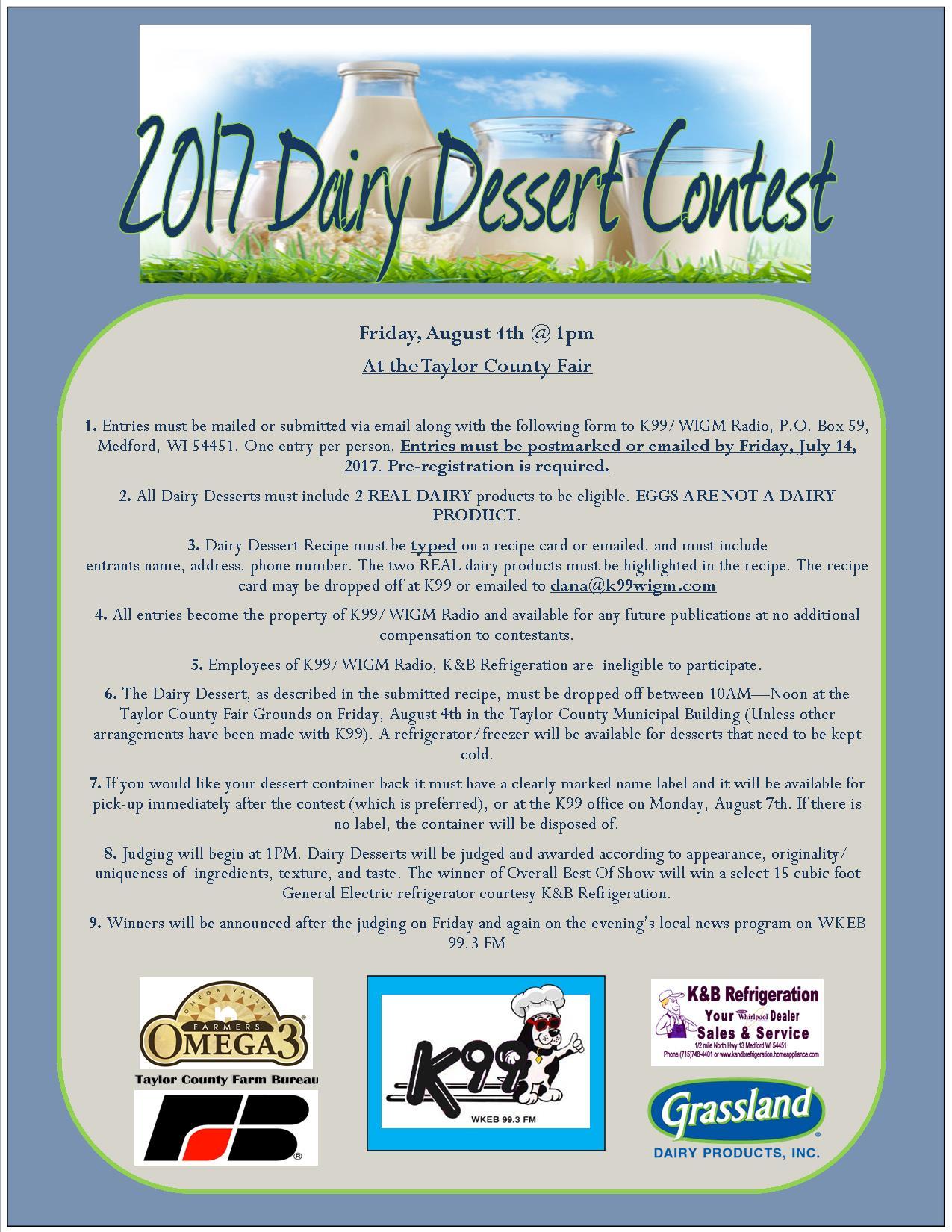 Dairy Dessert Contest - WKEB